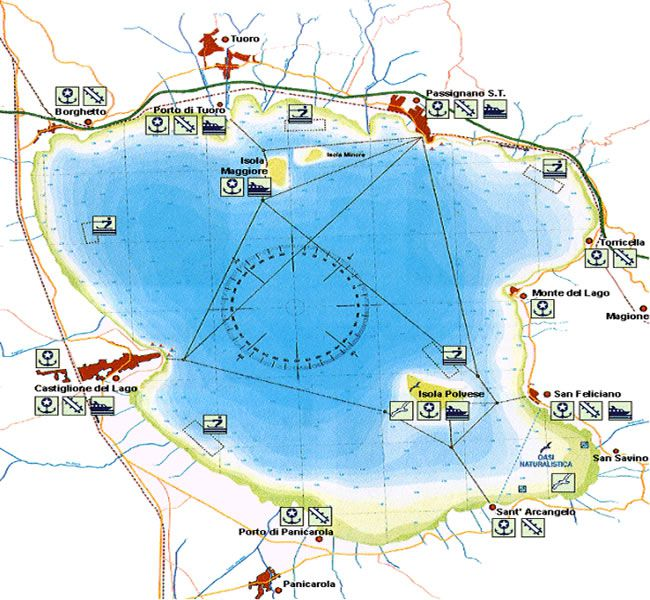 Lago Trasimeno - mappa